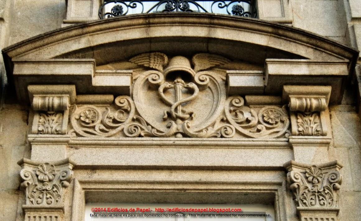 Otros edificios de Ourense exponen caduceos en sus fachadas