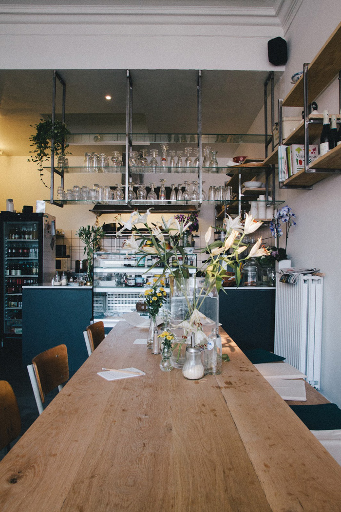 communal table in Tinsel cafe