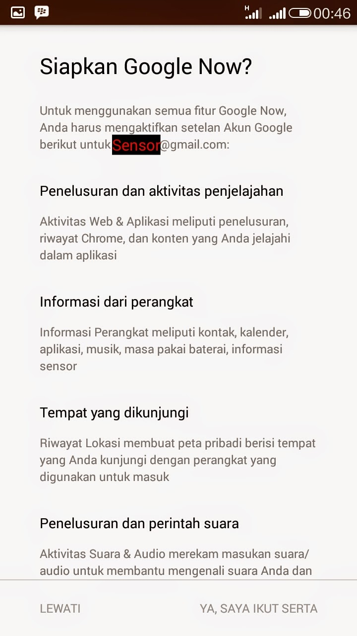 Deskripsi Google Now