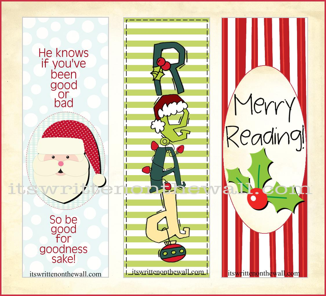 picture relating to Printable Christmas Bookmarks identified as » (Freebie) Xmas Bookmarks Incorporate Came