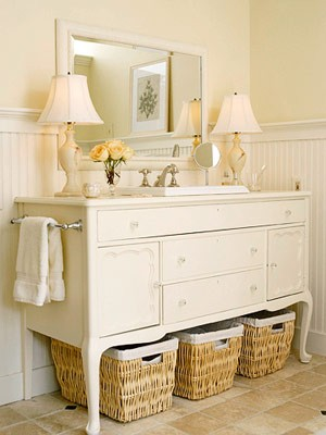 Simple MONDAY MAKEOVER  Bowfront Dresser Made Into MASTER BATHROOM VANITY