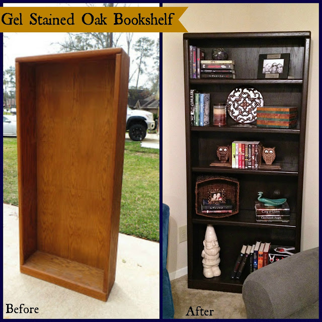 General Finishes Stain, Gel Stain, Before and After, Bookshelf