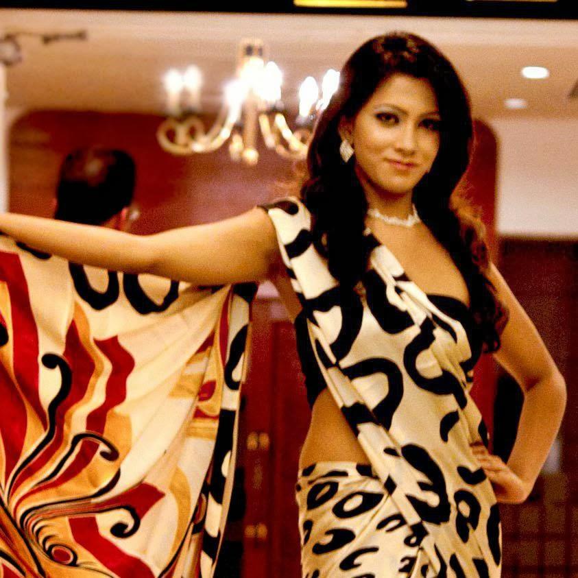 Nathashiya Amanda saree
