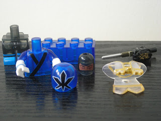 Power Rangers Super Samurai Mega Bloks Translucent Super Blue Ranger 01