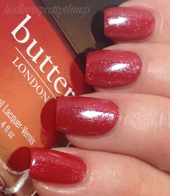 Butter London Pillar Box Red + Essie Pure Pearlfection
