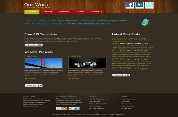Wooden Business Free HTML CSS Website Template