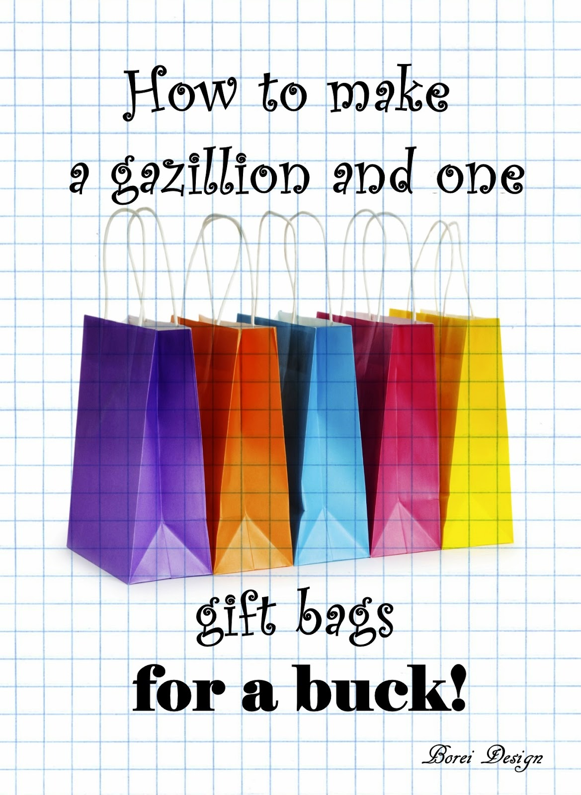 How to make a gazillion and one paper gift bags for a buck jeuxipadfo Choice Image