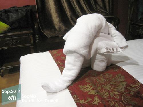 房內設施-大象造型毛巾