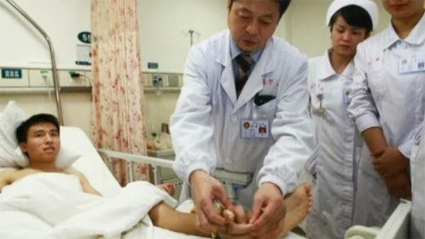 Accidente de un trabajador chino