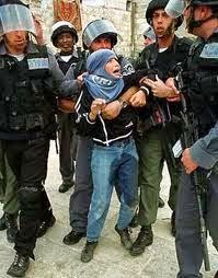 menino palestina chora enquanto é preso por soldados israelenses
