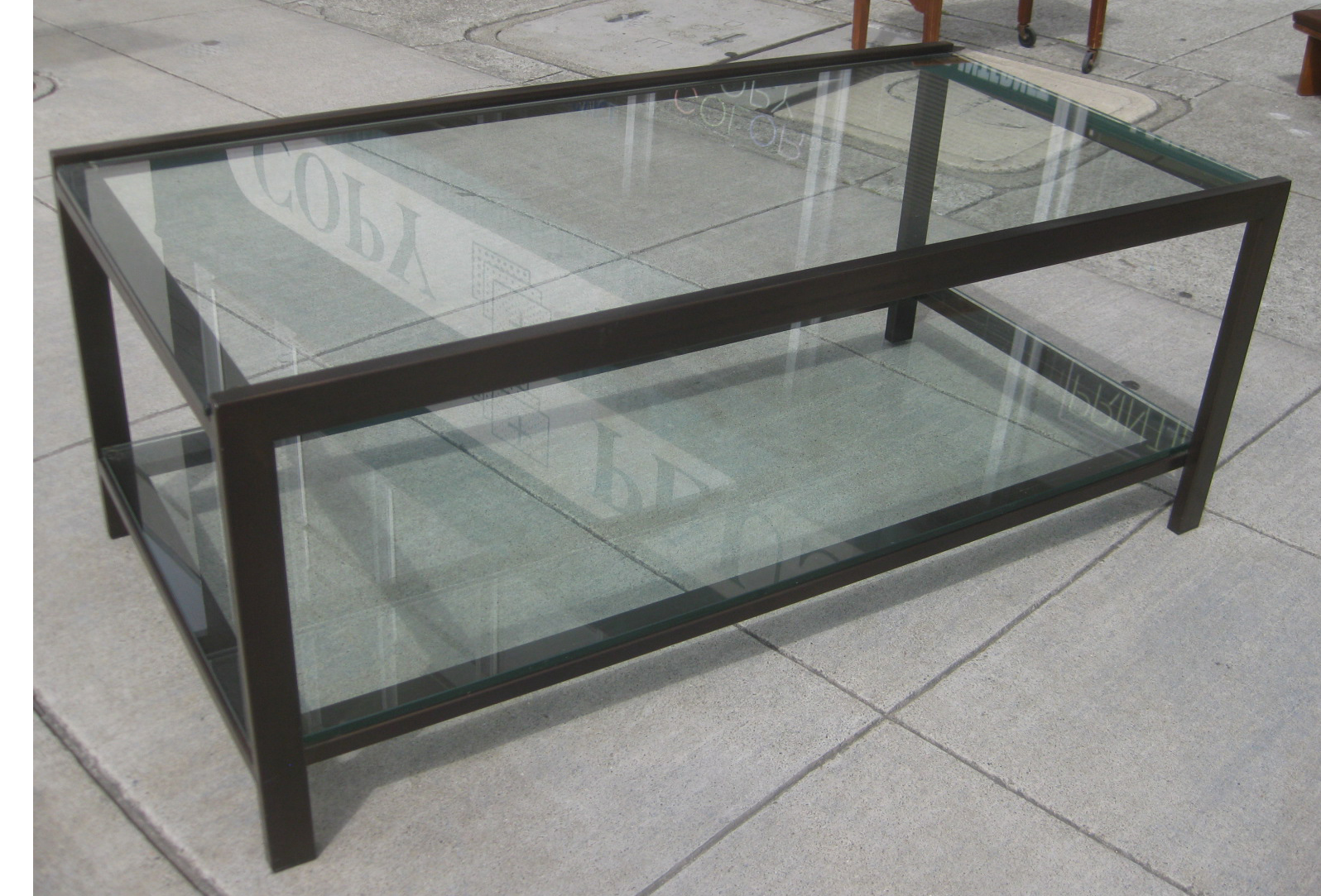 Glass Steel Coffee Table Modrest Modern Glass Stainless Steel Coffee Table Mode Steel Glass