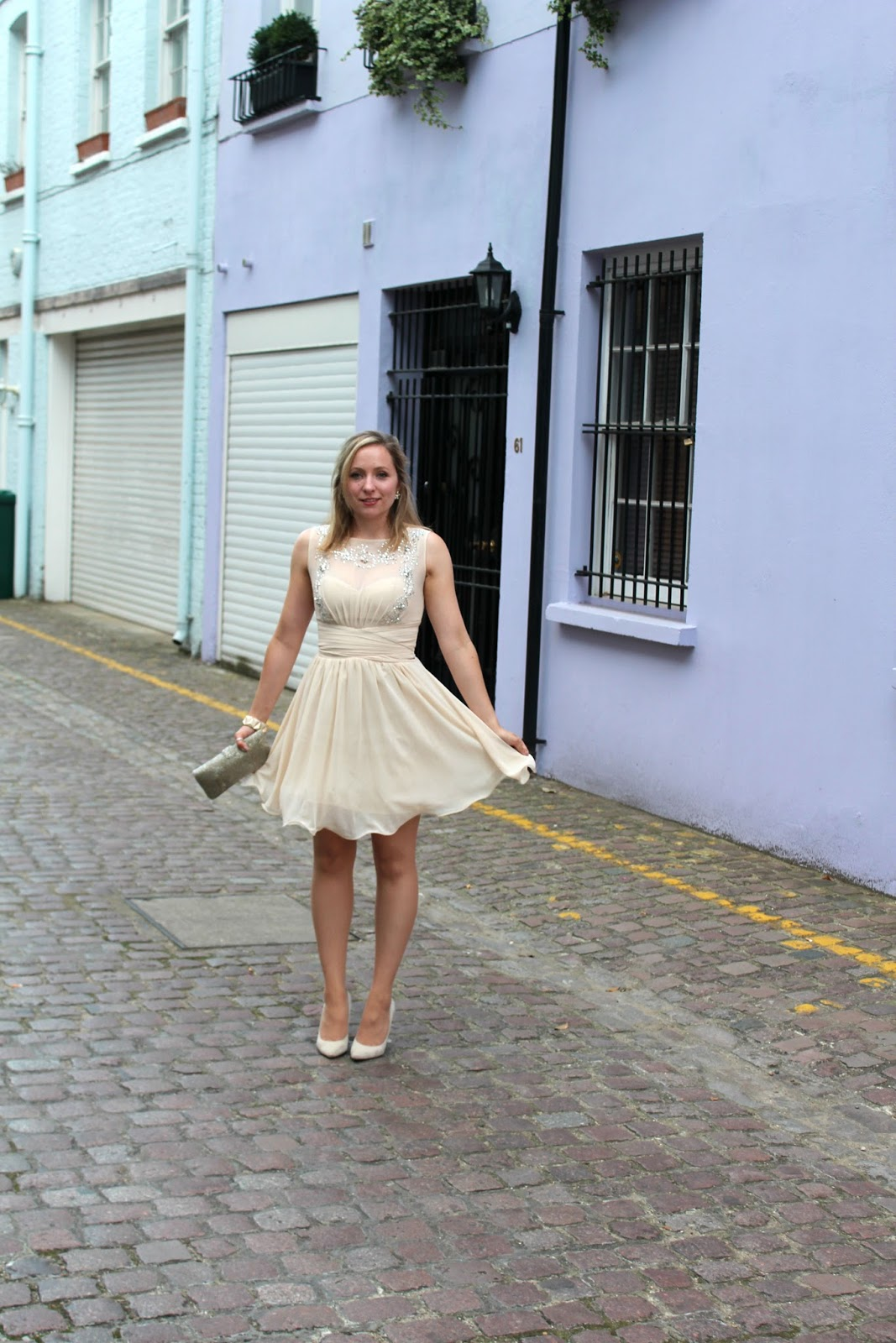 little mistress dress cream