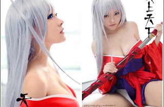 Liu Yu Chi Chinese Sexy Model Sexy Red Ninja Dress Big Boo Photo 3