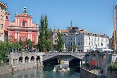De turismo por Liubliana en Eslovenia