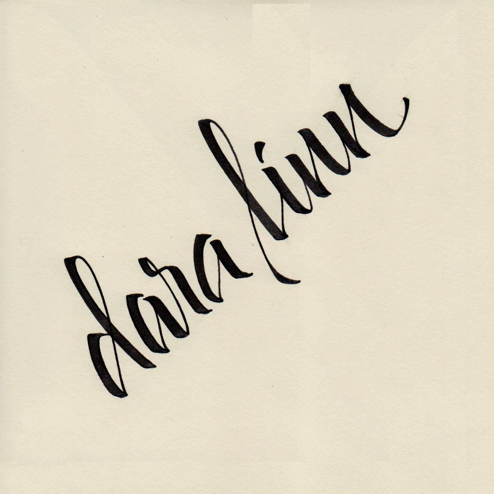 Long village studio teaching brush lettering