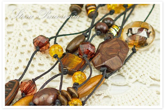 Korale, korale ze szkłem crackle, korale ręcznie robione, biżuteria autorska, unikatowa biżuteria, hand made, rękodzieło