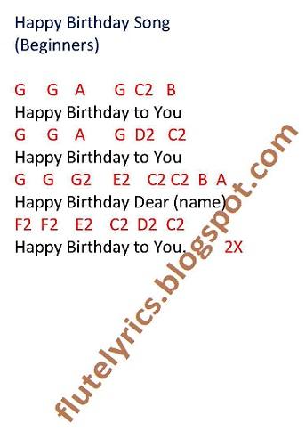 Happy Birthday Lyrics For Flute