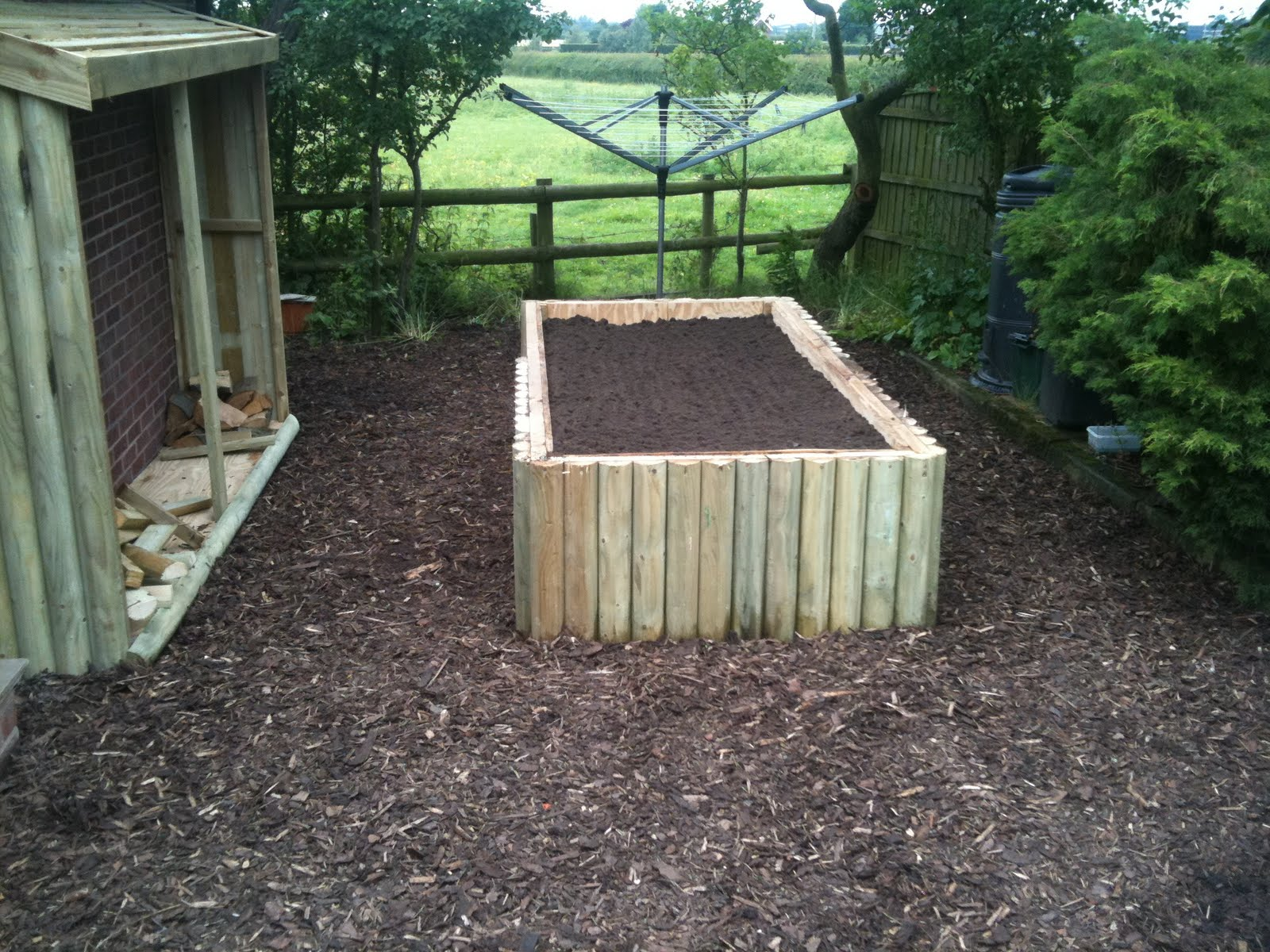 Rent A Muscle How To Build A Log Store How To Build A Raised Flower Bed