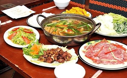 Vietnamese Beef Hotpot Street Food (Lau Bo)