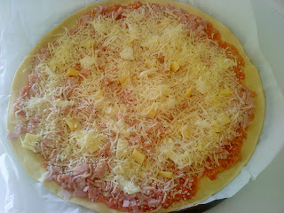 Pizza avant cuisson