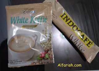 Luwak White Koffie VS Indocafe White