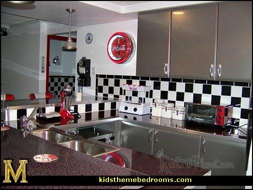 Decorating theme bedrooms maries manor 1950 bedding for American diner style kitchen ideas