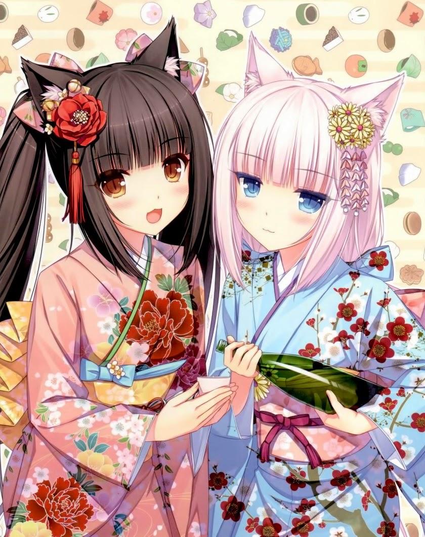 beautiful chocolate and vanilla neko works anime wallpaper by ...