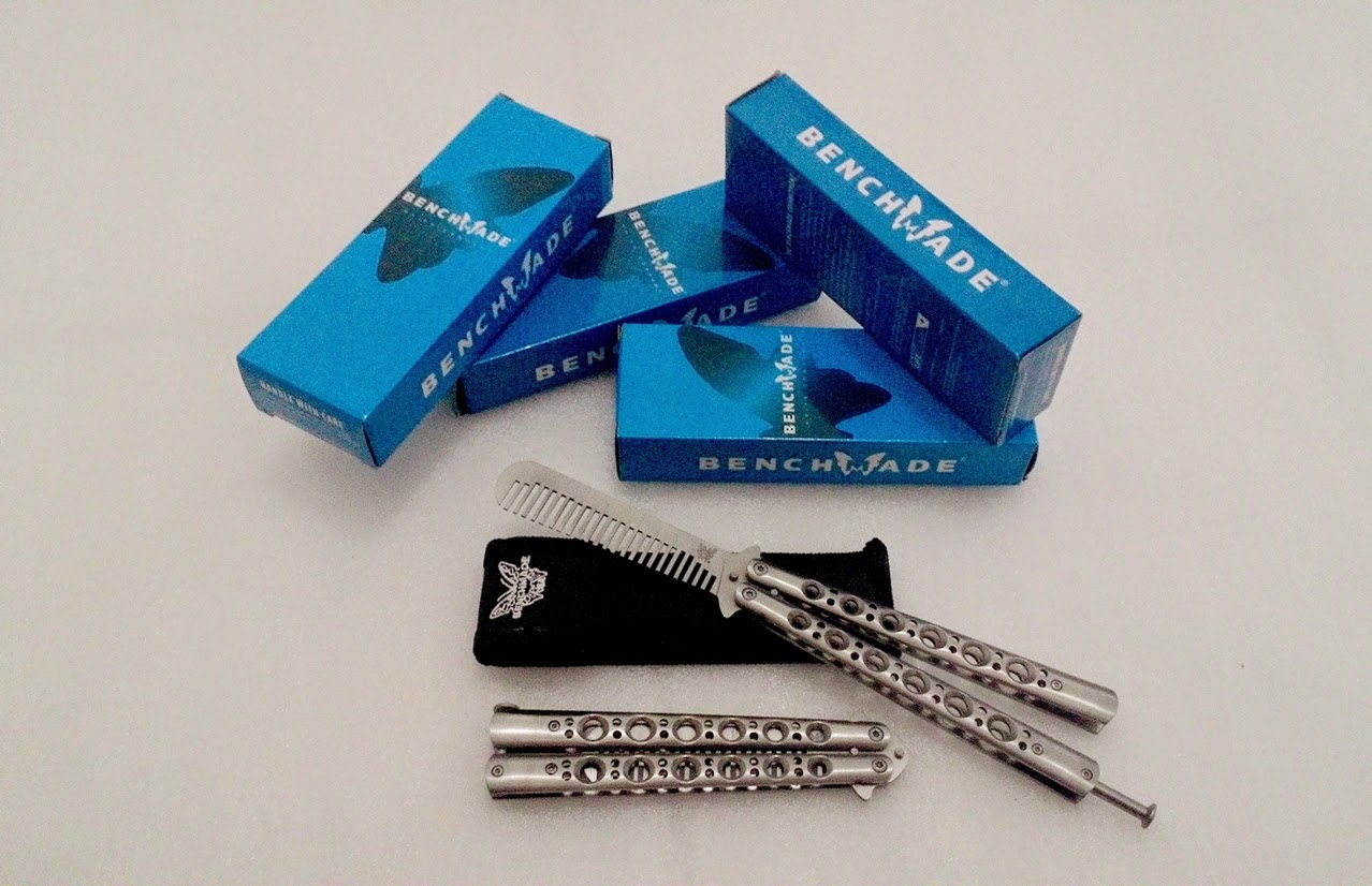 Balisong Butterfly Comb BenchMade Original - Sisir Lipat Pomade