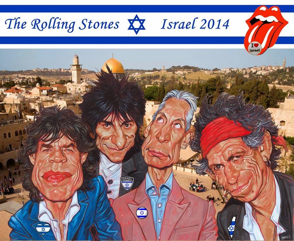 Rolling Stones concert in Jerusalem Israel 2014