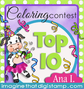 I was Top 10 at Imagine That Colouring Contest January 2016