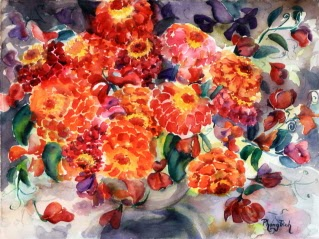 Gorgeous Watercolor Painting on paper