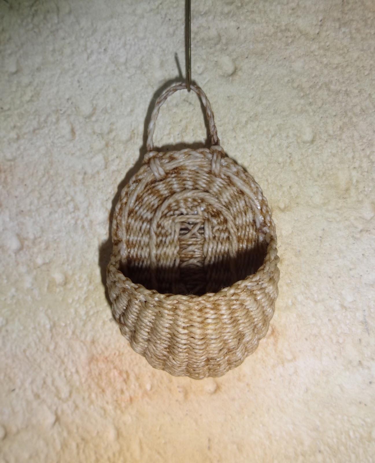 Wall Hanging Basket basketcase miniatures: some wall hanging baskets