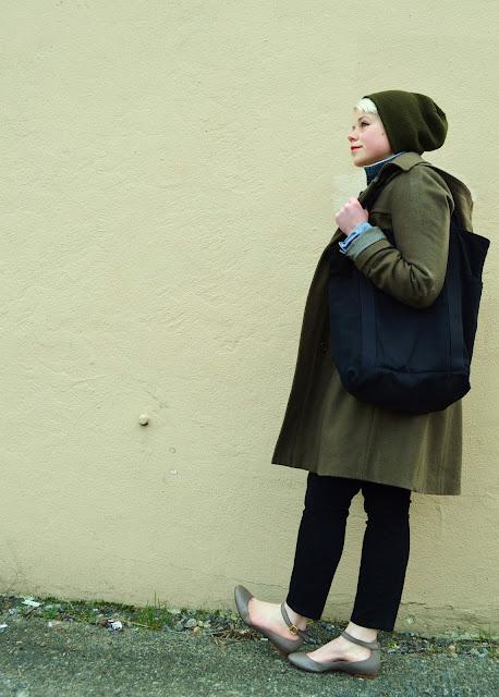 winter fashion, seattle, street style, denim jacket, fleur d'elise