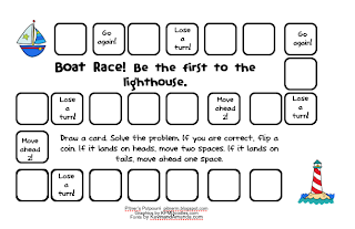 Boat Race multiplication printable