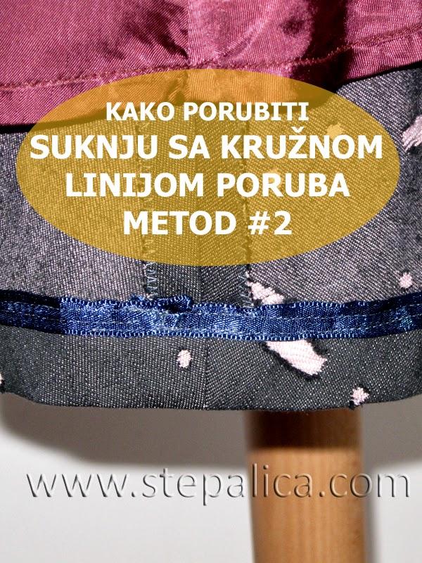 Šivenje Zlata suknje: #15 porubljivanje suknje, metod 2