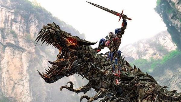 """Optimus y Grimlock en """"Tansformers: La Era de la Extinción"""""""