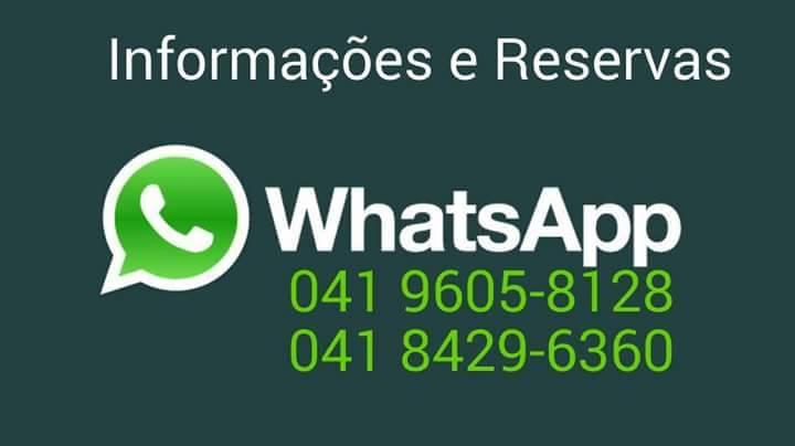 informaçoes e reservas tambem por WhatsApp