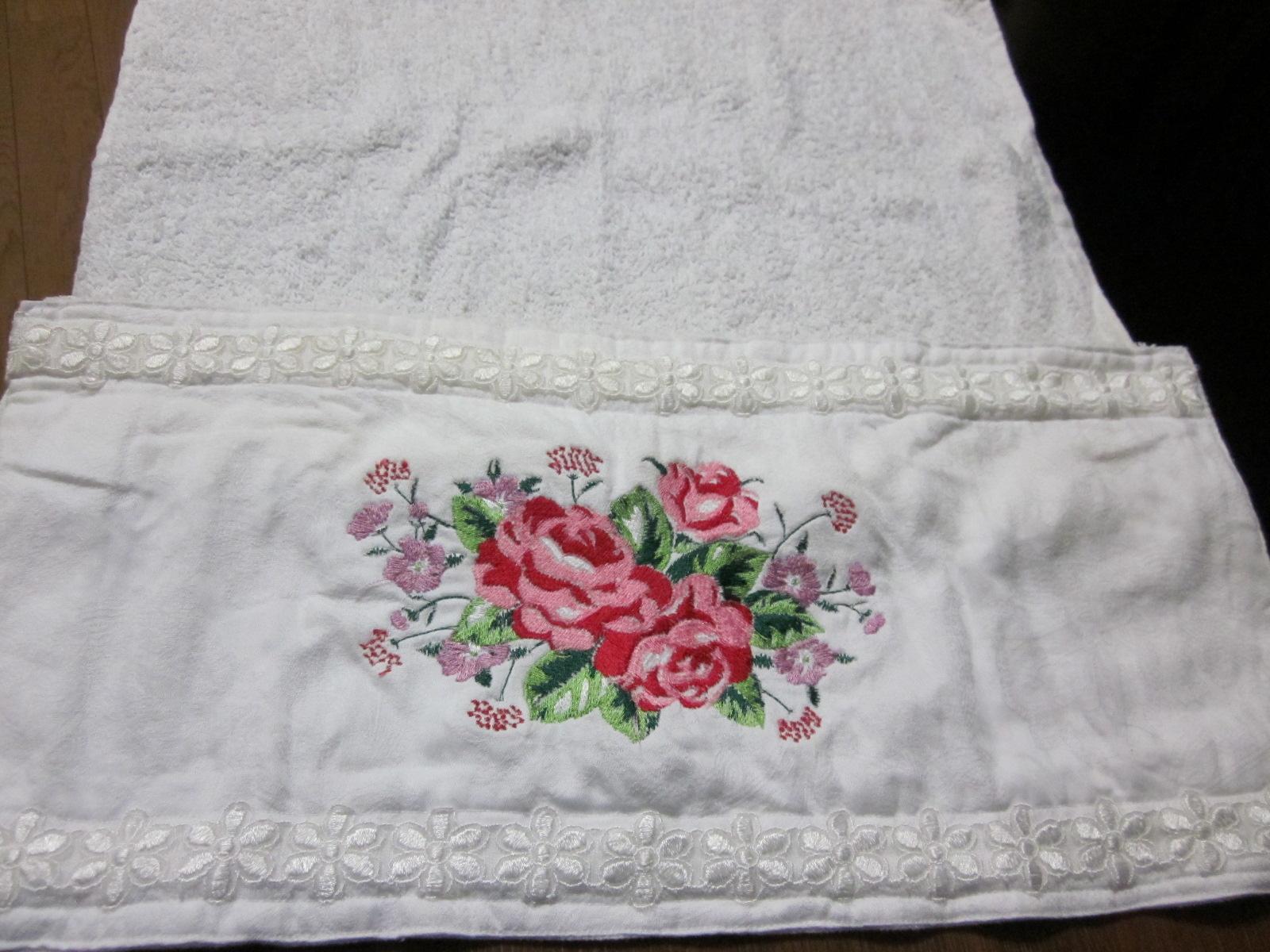 Cortinas de ba o bordadas en cinta paso a paso - Decoracion con toallas ...