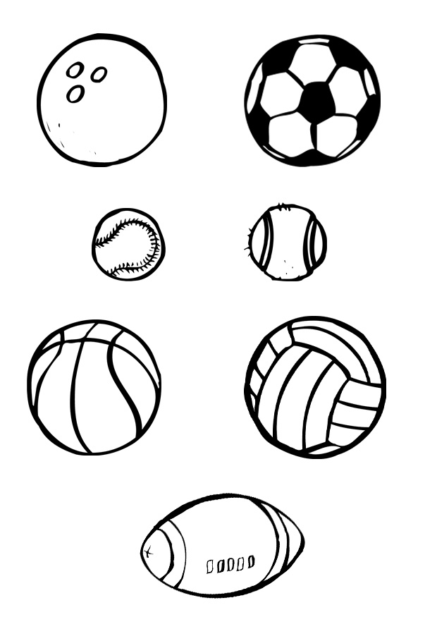 Sports Balls Coloring Pages Free Balls Coloring Pages