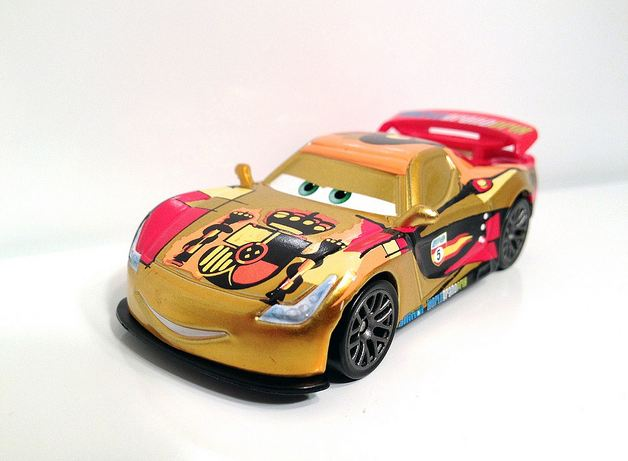 Disney pixar cars miguel camino metallic finish diecast size 1 55 scale sealed ebay - Coloriage cars 2 miguel camino ...
