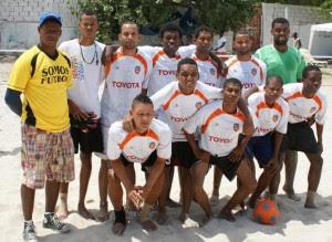 El equipo de fútbol playa de San Cristóbal, clasificó para la gran final y actuales campeones