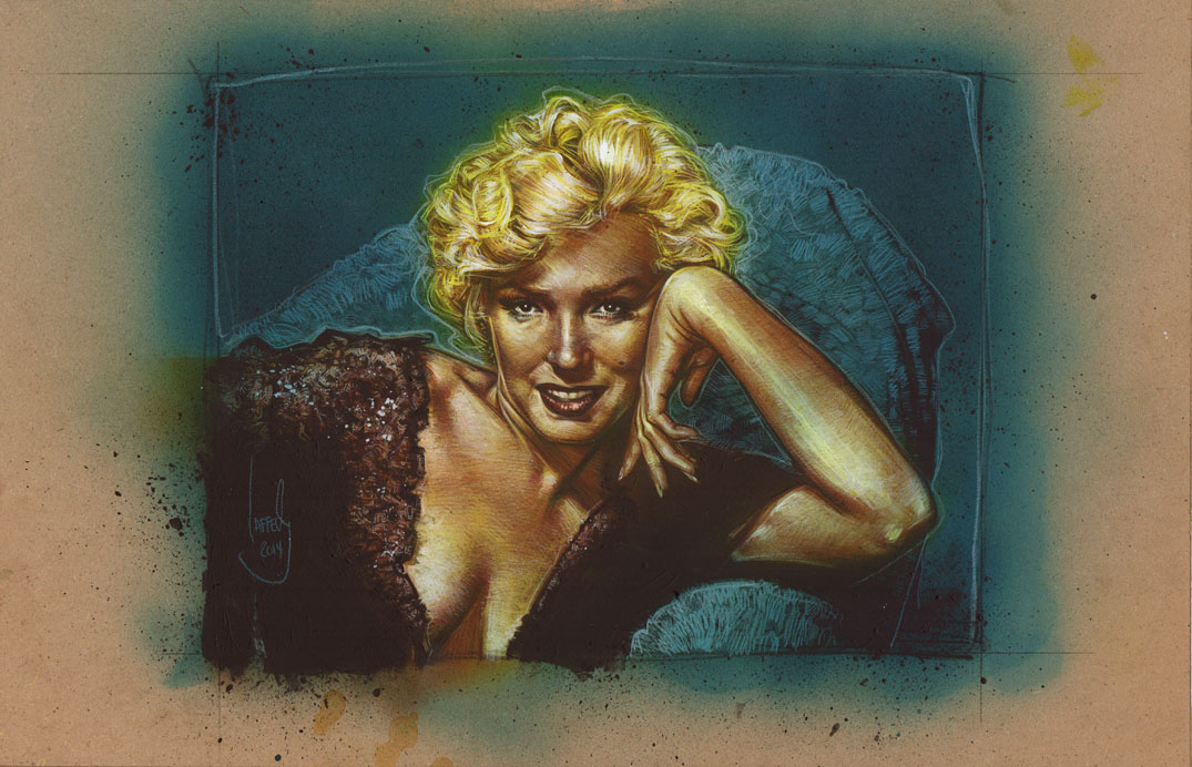 Marilyn Monroe, Artwork is Copyright © 2014 Jeff Lafferty