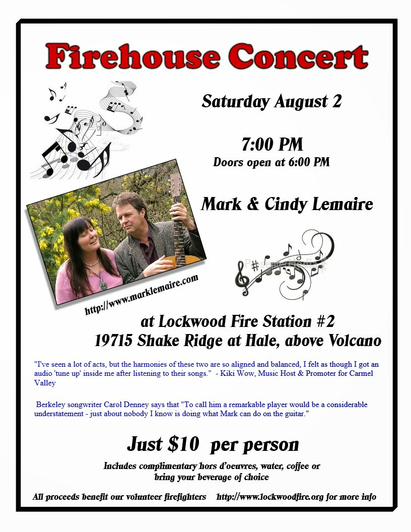 Firehouse Concert - Sat Aug 2