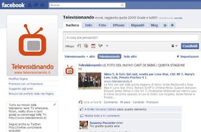 programmi tv facebook