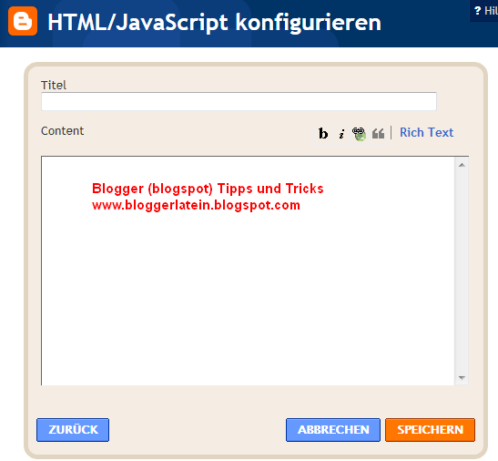 Google +1 Buton in blogger Blogspot einbetten. Google Plus Eins Button in Blogger Blogspot einbetten.