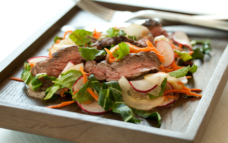 honey mustard steak salad
