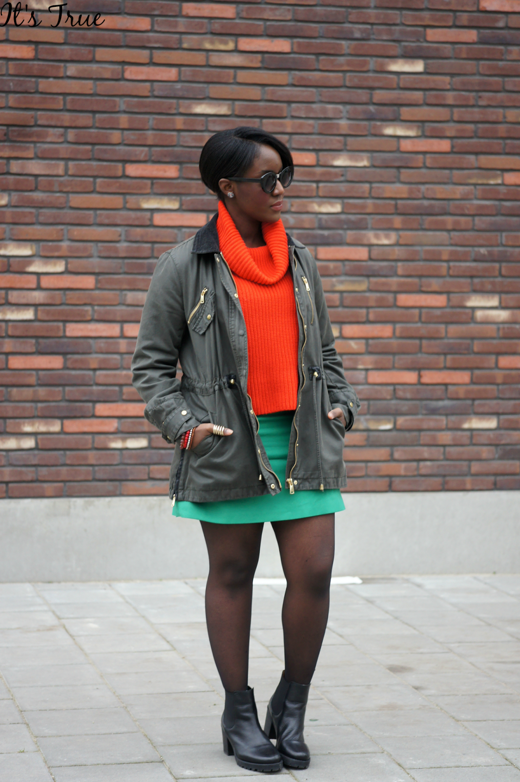 color block outfit in winter
