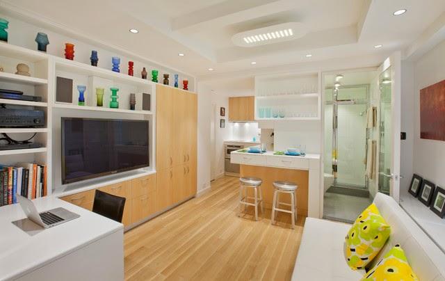 Vista Sala de Estar y cocina