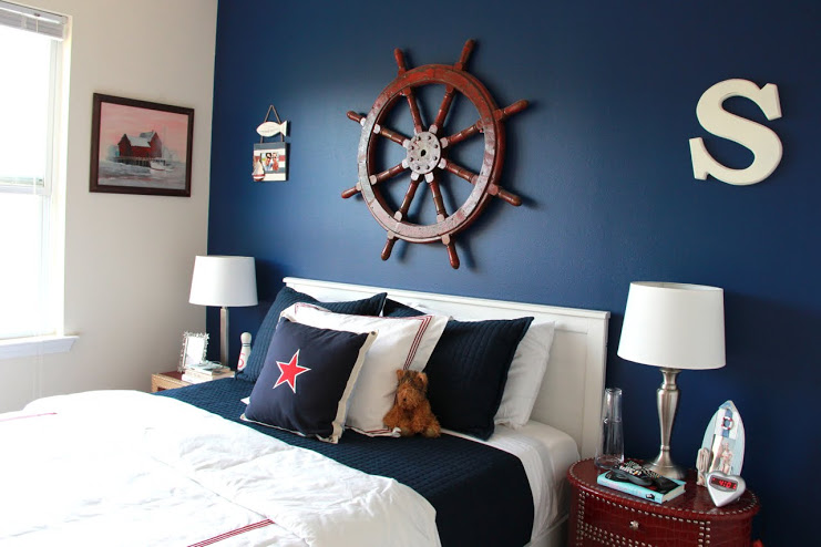 blue accent walls blue accents guest bedrooms girls bedroom nautical