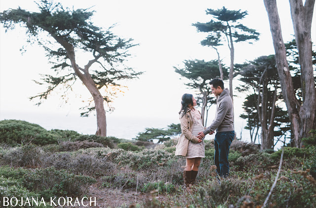 san francisco maternity photographer captures a expecting couple at lands end